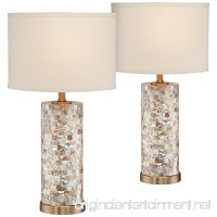 Margaret Mother of Pearl Tile Accent Table Lamp Set of 2 - B077TXG17Y