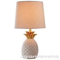 "Rivet Modern Pineapple Ceramic Table Lamp  18"" H  White and Gold - B075X2NLJZ"