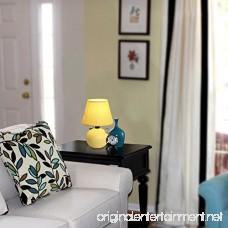 Simple Designs LT2008-YLW-2PK Mini Ceramic Globe Table Lamp 2 Pack Set Yellow - B00KYZN1VQ