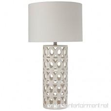 Stone & Beam Ceramic Geometric Table Lamp 25 H with Bulb White Shade - B07374K53C