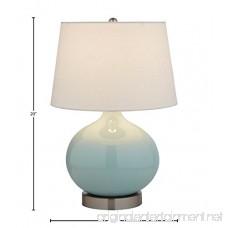 Stone & Beam Cyan Ceramic Lamp 20 H with Bulb White Shade - B073751DML