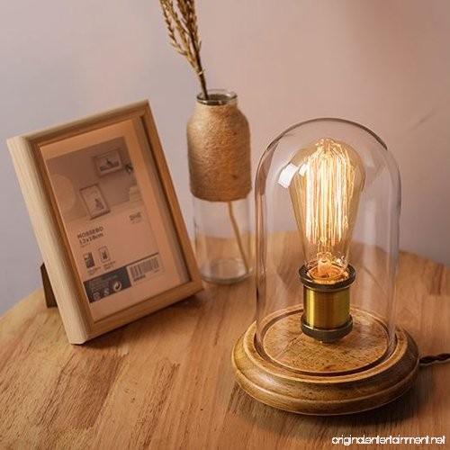 Vintage Edison Bulb Table Lamp: Surpars House Vintage Desk Lamp Glass Shade Table Lamp
