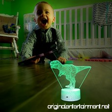 [Wall Adapter Included] Remote & Touch Control LED Dinosaur Night Light with Timer Dimmable Bedside Table Desk Lamp 7 Color Changing Nightlights for Boys Birthday Christmas Gift Home Decoration - B07D297C37