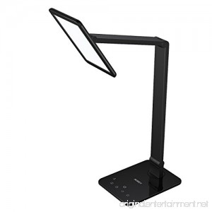 AUKEY Desk Light Rotatable Table Lamp with Extra-Large LED Panel Dimmable Brightness USB Charging Port Memory Function Touch Sensor & Sleep Mode - B01M8JWRSU