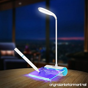 Desk Lamp Walkas Lamp with Message Board Rechargeable LED Reading Lamp Touch Sensor-Blue - B01G8KL540