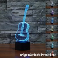 Guitar 3D Lamp Night Light Table Desk Lamps  MONICA 7 Color Changing Touch Lights with Acrylic Flat & ABS Base & USB Charger - B01M3UU1NX