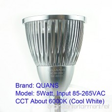 QUANS 5W 5x1W Cool White 19.68inch Clamp Clip on Gooseneck High Power LED Desk Table Light Lamp Ultra Bright Silver - B00W3GNL14