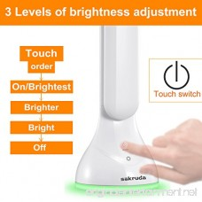 Sakruda LED Desk Lamp Battery Operated Touch Table Lights Foldable Eye Protection Book Light for Kids Dorm Reading Lamps for Bed Study Living Room with USB Charging Port 3-Levels Dimmer Night Light - B071992JZC