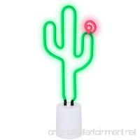 Sunnylife Indoor Decorative Neon Light Figurine Tube Desk Lamp with Adjustable Dimmer - B01N3Y151I