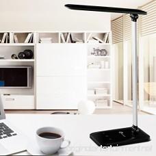 TaoTronics TT-DL08 LED Desk Lamp Dimmable LED Table Lamp Cool White Reading Light Eye-caring Book Light (3-Level Dimmer Touch-Sensitive Control Night Light Glossy Black 6W) - B00M7TVSG2