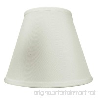 5x10x8 Light Oatmeal Shantung Lampshade By Home Concept - Perfect for small table lamps desk lamps and accent lights -Medium Off-White - B00X4P1JDK
