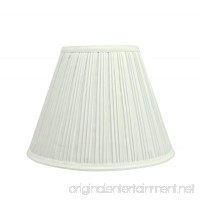 """Aspen Creative 59101 Transitional Pleated Empire Shape UNO Construction Lamp Shade 10"""" Wide  5"""" x 10"""" x 8""""  Off White - B0764DS433"""