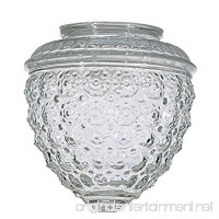 Clear Pineapple Glass Shade - 3-1/4-Inch Fitter Opening - B0018A9KWK