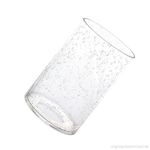 Eumyviv A00001 Cylinder With Bottom Clear Bubble Glass