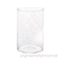 Eumyviv A00001 Cylinder with Bottom Clear Bubble Glass Lamp Shade - B077VQND4F