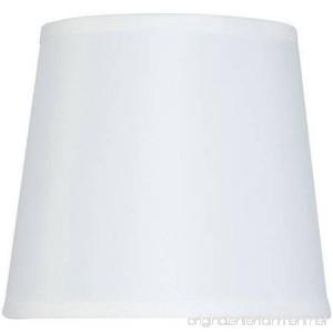 Hard-Back Drum Lamp Shade White - B01GOMJMLK