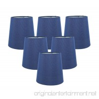 Meriville Set of 6 Blue Faux Silk Clip On Chandelier Lamp Shades  3.5-inch by 4.5-inch by 4.5-inch - B01JWH9VQK