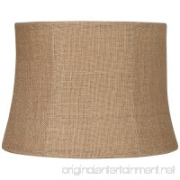 Natural Burlap Medium Drum Lamp Shade 12x14x10 (Spider) - B007ASZM26