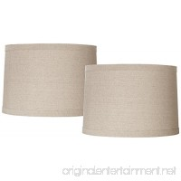 Natural Linen Set of 2 Drum Shades 15x16x11 (Spider) - B074L5KQZM