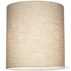 Oatmeal Tall Linen Drum Shade 14x14x15 (Spider) - B016YGFZ58
