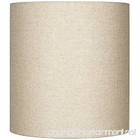 Oatmeal Tall Linen Drum Shade 14x14x15 (Spider) - B016YGFZ58