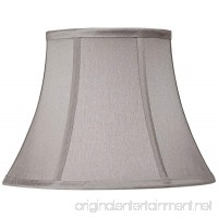 Pewter Gray Bell Lamp Shade 7x12x9 (Spider) - B00YEG0NDK