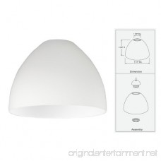 Satin White Glass Shade - 1-5/8-Inch Fitter Opening - B00CDKGN24