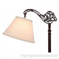 Upgradelights Uno Beige Linen Lamp Shade Floor Lamp Replacement Shade Down Bridge Shade - B003XJPRYE