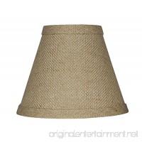 Urbanest 1100328 Chandelier Lamp Shade 6-inch Hardback Clip On Burlap - B009SRN2J2