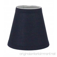 Urbanest Navy Blue Cotton Chandelier Lamp Shade  3-inch by 6-inch by 5-inch  Clip-on  Hardback - B01M13PNDK