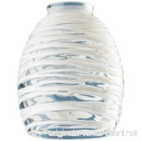Westinghouse Lighting Corp Glass Shade Clear with White Rope Design - B000WEMGO2