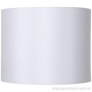 White Hardback Drum Lamp Shade 14x14x11 (Spider) - B005R0NF82