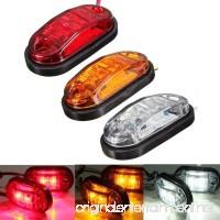 2W Side Marker Lights Lamps For Car Truck Trailer Plastic Car Side Marker Lamps/Brake Signal Decoration Lamps 10~30V (2PCS) (Color : Red) - B07FF5LT39