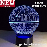 3D Lamp Death Star (newest model) Table Lamp Optical Illusion Visual Led Night Light for Star Wars  Elstey 7 Colors with Acrylic Plate& ABS Base& USB Charge  Touch Sensitive Switch Lights - B075MX6XPF