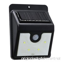 4LED Waterproof LED Solar Power PIR Motion Sensor Wall Light Outdoor Street Yard Cool White Security Lamp (1PCS) - B07FFN859B