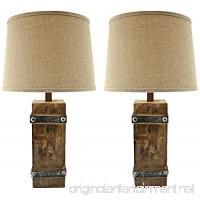 Aspire Brockton II Table Lamp (Set of 2)  Brown - B00KC4EIA2