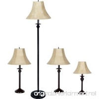 Better Homes and Gardens 4-Piece Lamp Set  Dark Brown Finish - B074Z13F74