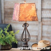 Black Forest Decor Scroll Metal Table Lamp w/Western Shade - B078KR96DQ
