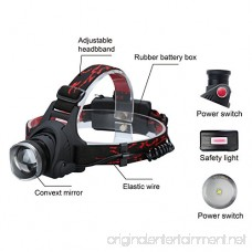 Durapower Headlamp Super Bright 2 Modes Led Headlamp with Zoomable Focusing and Adjustable Lighting Angle and Water Resistant Function Include 3 AAA Batteries - B06ZZBXV4P
