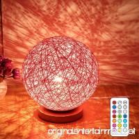 E27 10W RGBW Desk Lamp Bedroom Bedside Table Lamp LED Bulbs Modern Romantic Night Lampes Table Lamps (1pcs) - B07FF4V7KV