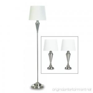 Gallery of Light Desk Lamp Set Silver Contemporary Living Room Table Lamp Set Modern - Metal - B07FXX47TV
