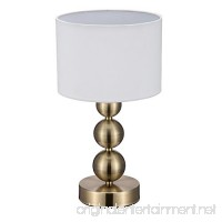 JINZO Touch Lamp Bedside Lamps for Bedroom Modern Table Lamp Dimmable Antique Brass Finished. - B075Q4R3FG