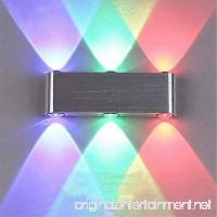 Modern 6W Led Wall Lamp Home Decoration Epistar High Power Led Lighting Indoor Decor Light For Bar/KTV Wall Light 1PCS (Color : RGB) - B07FF95QHB