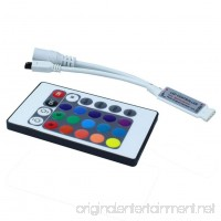 Ocamo Mini IR Remote Controller 24 Buttons with RGB LED Controller for RGB LED Strip - B07FVKBZX8