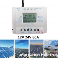 Ocamo MPPT Solar Charge Controller LCD Display Solar Regulator 80A 12V 24V - B07FNDXZY2