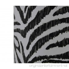 Plastic Accent Lamps Set Of Two Zebra Print Fabric Uplight Accent Lamps 12 Inches Tall 6 X 12 X 6 Inches Black - B076DJ93TX