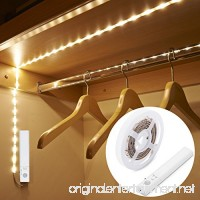 Amagle LED Dual Mode Motion Night Light  Flexible LED Strip with Motion Sensor Closet Light for Bedroom Cabinet  Nature White (4000K) (4 AAA Batteries Operated  Not Included) - B01N9J71N7