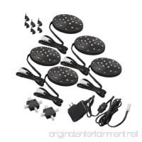Amertac LED52LB LED Slimline Puck Black 5-Pack - B007F7PIEE