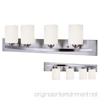 Canarm Luztar Hampton 4 Bulb Vanity Light  Brushed Pewter finish - White Opal Glass - B01NAGPQPQ