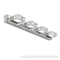 comeonlight 12W Bathroom Vanity Light  LED Crystal Make Up Mirror Light  4-lights Daylight White 1200 Lumen Bathroom Bedroom lighting - B01D4GAJTI